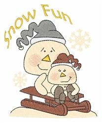 Snow Fun embroidery design