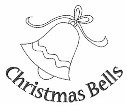 Christmas Bells Outline embroidery design