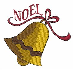 Noel Bell embroidery design