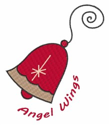 Angel Wings Bell embroidery design