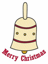 Merry Christmas Bell embroidery design