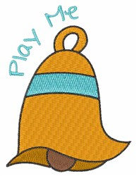 Play Me Bell embroidery design