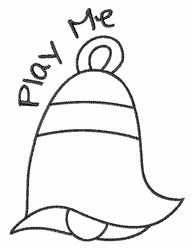 Play Bell Outline embroidery design