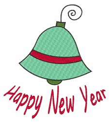 New Year Bell embroidery design