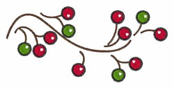 Holiday Berries embroidery design