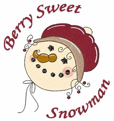 Sweet Snowman embroidery design