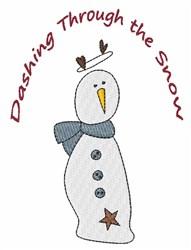 Dashing Snowman embroidery design