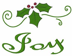 Joy Holly embroidery design