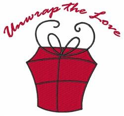Unwrap The Love embroidery design