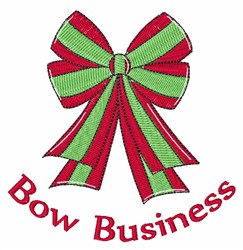 Bow Business embroidery design