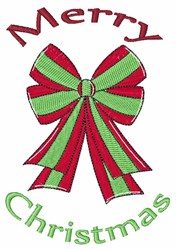 Christmas Bow embroidery design