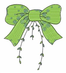 Green Bow embroidery design