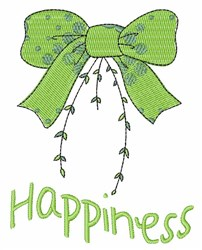 Happiness Bow embroidery design