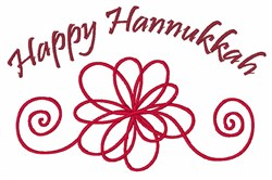 Hannukkah Flower embroidery design