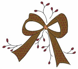 Holiday Bow embroidery design