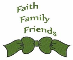 Faith Friends embroidery design