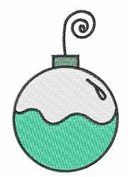 Holiday Ornament embroidery design