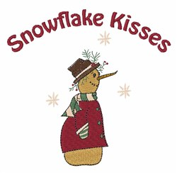 Snowflake Kisses embroidery design