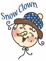 Snow Clown embroidery design