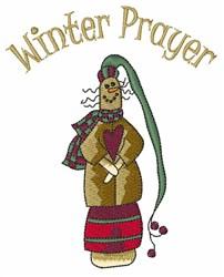 Winter Prayer embroidery design