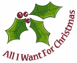 Want For Christmas embroidery design