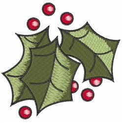 Leaves Of Holly embroidery design