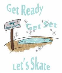 Lets Skate embroidery design