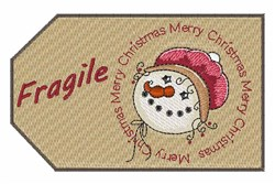 Fragile Tag embroidery design