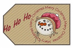 Ho Ho Ho Tag embroidery design