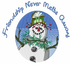 Never Melts embroidery design