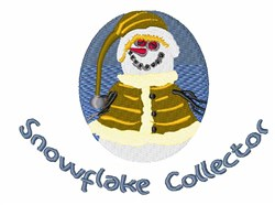 Snowflake Collector embroidery design
