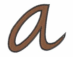 Handwriting A embroidery design