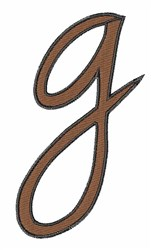 Handwriting G embroidery design