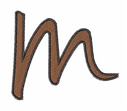 Handwriting M embroidery design
