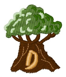 Trees Font D embroidery design