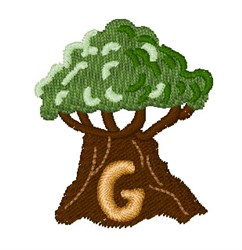Trees Font G embroidery design