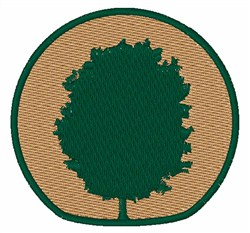 Tree Emblem embroidery design