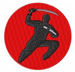 Ninja embroidery design