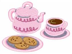 Tea Set embroidery design