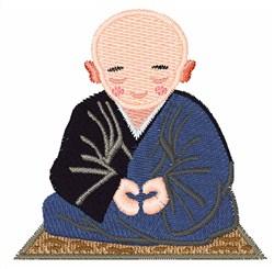 Buddhist Monk embroidery design
