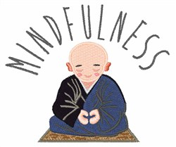 Mindfulness embroidery design