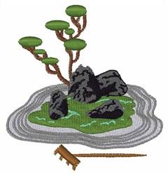 Zen Garden embroidery design