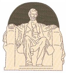 The Lincoln Memorial embroidery design
