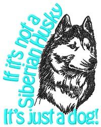 A Siberian Husky embroidery design