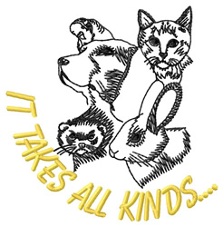 All Kind Animals embroidery design