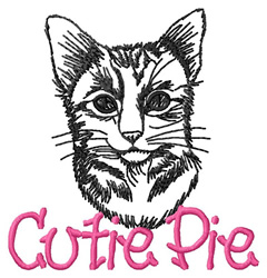 Cutie Pie Cat embroidery design