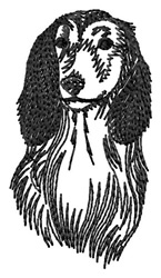 Dachshud embroidery design