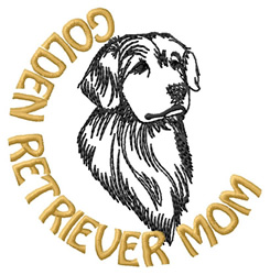 Golden Retriever Mom embroidery design
