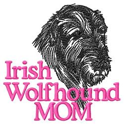 Irish Wolfhound Mom embroidery design