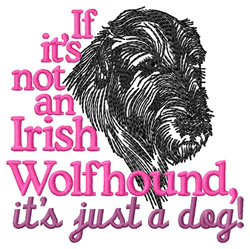Irish Wolfhound embroidery design